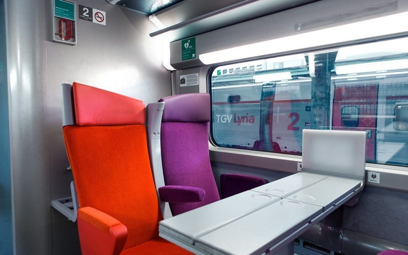 TGV Lyria | Trains in France | 2nd class interior