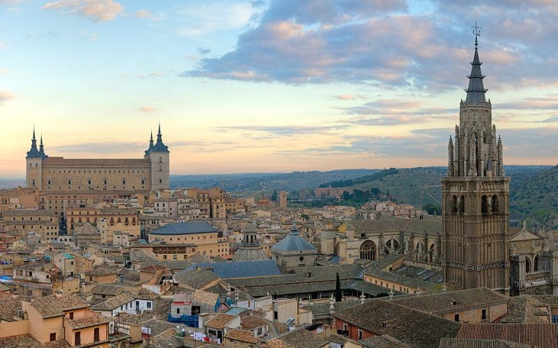 Book Your Eurail/Interrail Adventure at HappyRail | Trip Itineraries for Eurail | Toledo aerial view