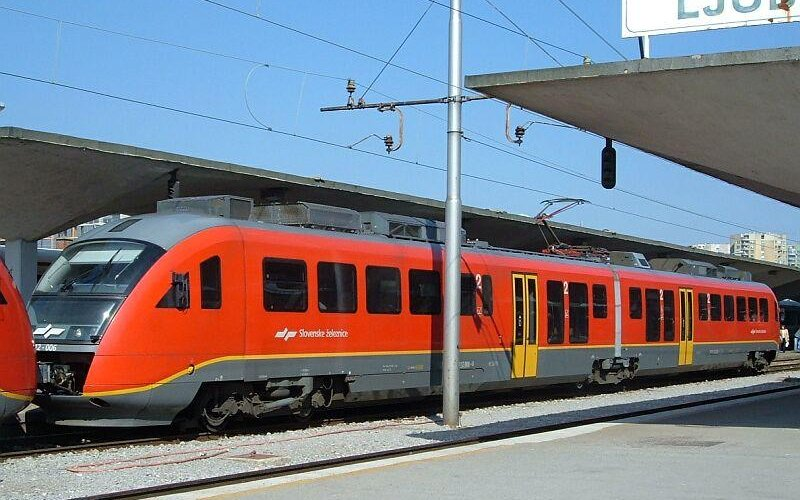 Train Reservations in Slovenia | All Reservations & Passes | Train waiting for departure from Ljubljana Railway Station