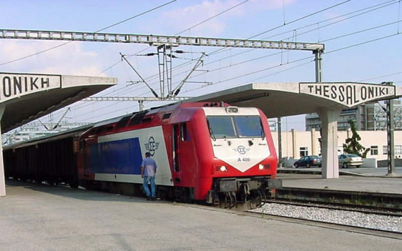 Train Reservations in Greece | All Reservations & Passes | Train ready for departure from Thessaloniki railway station