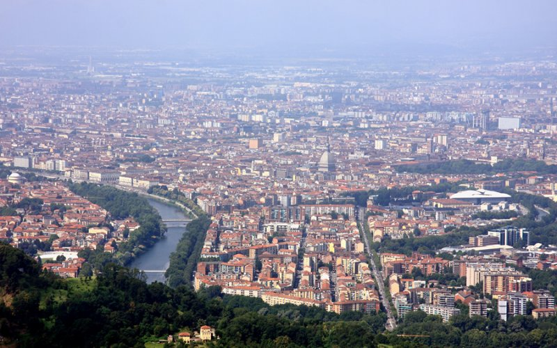 Trains to & from Turin | Aerial view of Turin