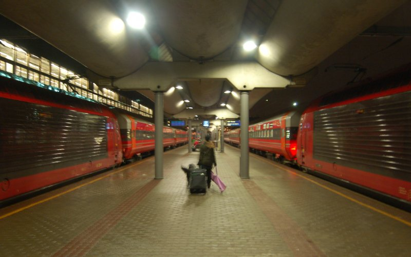 Night Train Norway | Trains in Norway | Night train ready for departure from Oslo Sentral