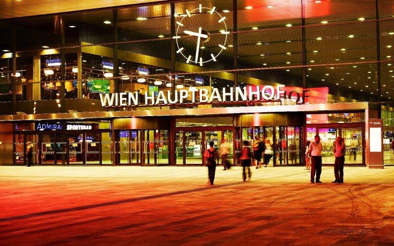 Trains Budapest to Vienna | Wien Hauptbahnhof