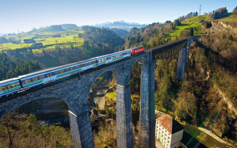 Voralpen Express - Panoramic Train Switzerland - Swiss Travel Pass