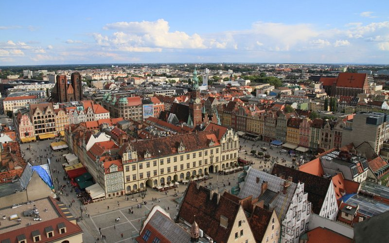Trains to & from Wroclaw | Aerial view of Wroclaw