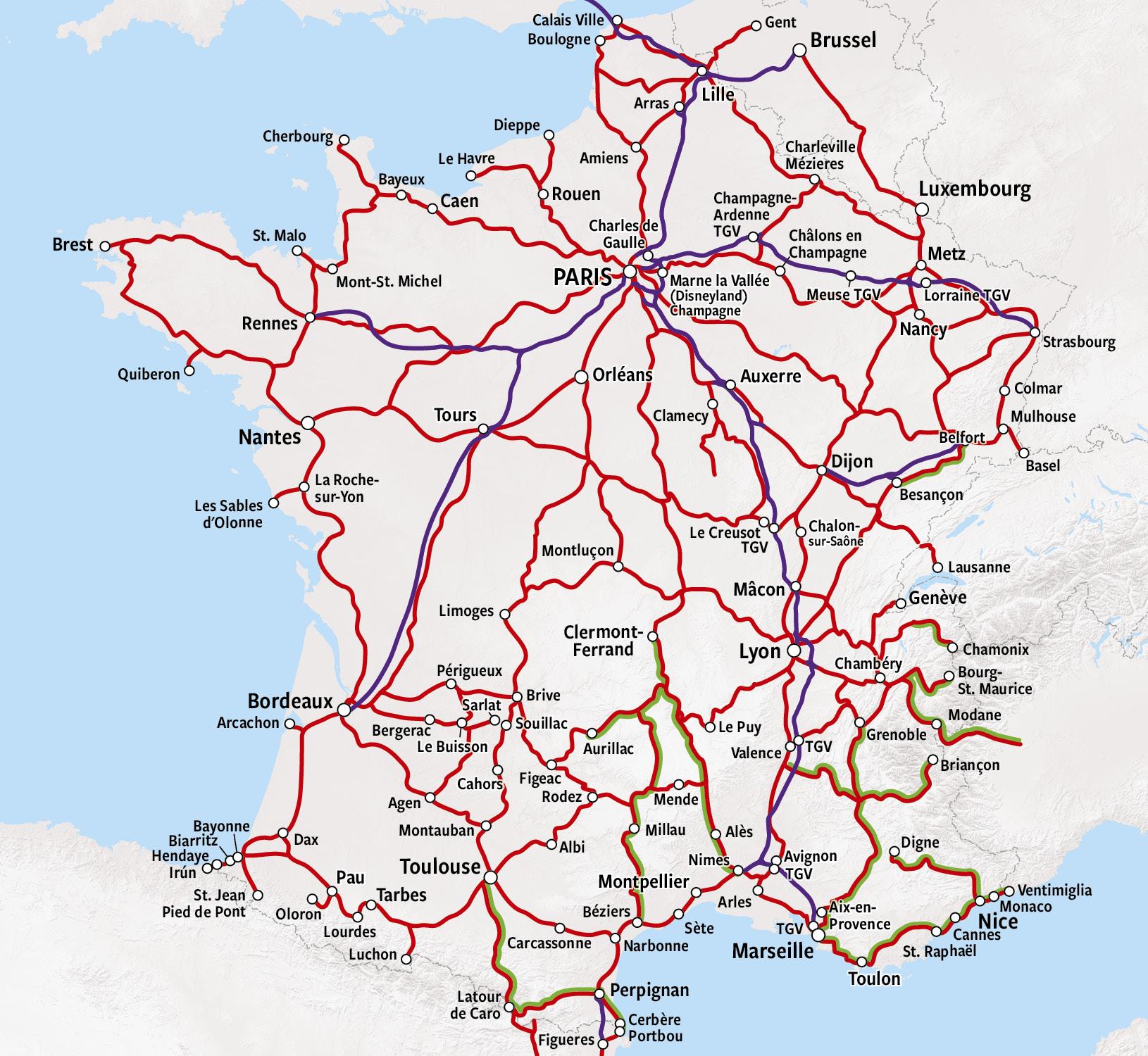 Rail Map - France