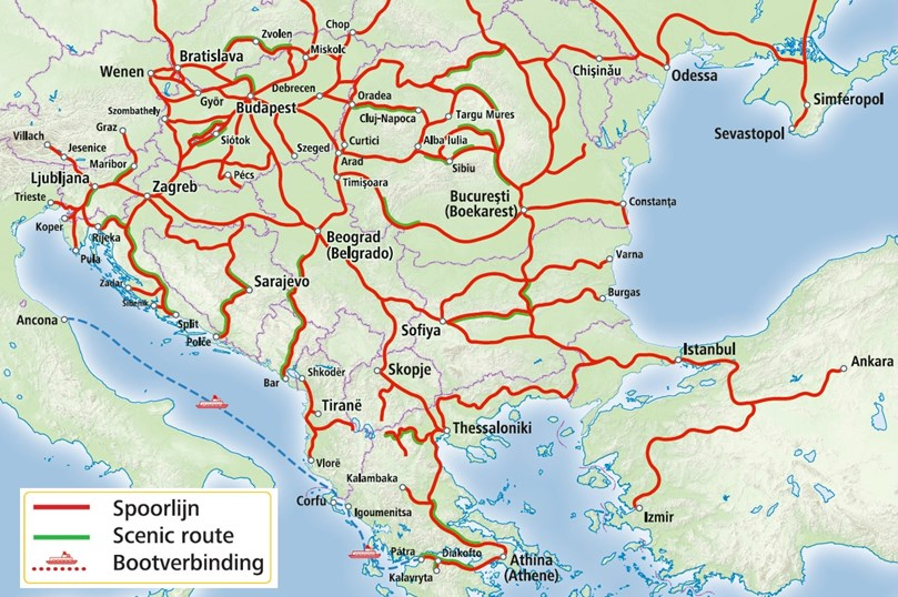 Rail Map - Southeast Europe