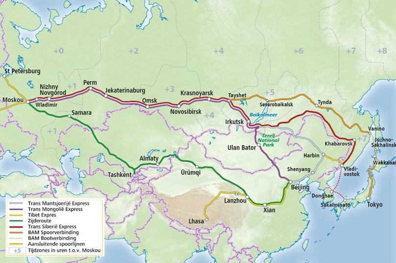 Spoorkaart - Rusland