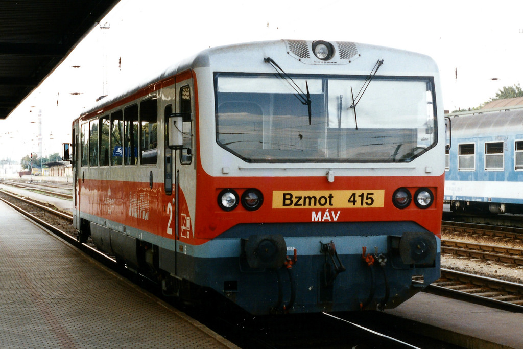 Regional Trains Hungary   Trains in Hungary   Ready for departure from the train station